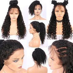 """Friya Glueless Kinky Curly Lace Front Wig Swiss Lace Part Handmade Natural Black Color Heat Resistant High Temperature Hair Perruque Party Long Bob Synthetic Lace Wigs For Women 22"""""""