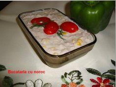 Salata de ton dietetica - Bucataria cu noroc Butter Dish, Lunch Box, Pudding, Dishes, Simple, Desserts, Food, Salads, Tailgate Desserts