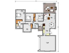 A four bedroom house plans drawing with garages for sale. Browse one storey 4 bedrooms house plans designs and Tuscan house plan designs in South Africa. Four Bedroom House Plans, Tuscan House Plans, 4 Bedroom House Designs, Modern House Floor Plans, Simple House Plans, My House Plans, Garage House Plans, Bungalow House Plans, Bungalow House Design