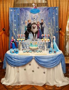 Fantastic Frozen birthday party! See more party ideas at CatchMyParty.com!