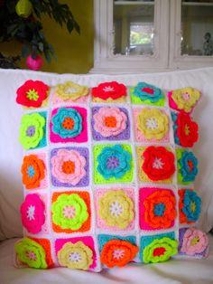 Crochet Cushion Granny Squares by LillyBev on Etsy, £35.00