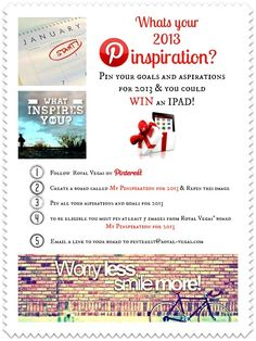 Competition on Royal-Vegas. Win an iPad for your inspiring pins. Enter today!