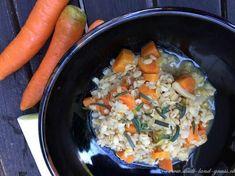 Rezept vegetarische Gerstensuppe. Eine wärmende Suppe, gut für die Verdauung mit Rollgerste. Gerste Paella, Meat, Ethnic Recipes, Food, Fresh Coriander, Stew, Essen, Meals, Yemek