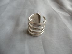 Four Prong Fork Ring by DadDaughterDesigns on Etsy Fork Jewelry, Metal Jewelry, Jewelry Rings, Jewelery, Silver Jewelry, Jewelry Crafts, Jewelry Art, Handmade Jewelry, Jewelry Design