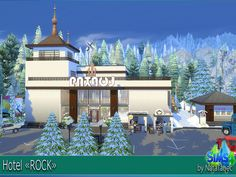 """Sims 4 CC's - The Best: Hotel """"ROCK"""" by Natatanec"""