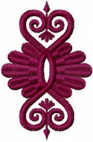 Vignette free machine embroidery design