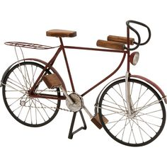 Dot & Bo Speed Trap Bicycle Décor (2.620 RUB) ❤ liked on Polyvore featuring home, home decor, fillers, bicycle, decor, vehicles, vintage bicycle home decor, bicycle home decor, vintage home decor and bike home decor