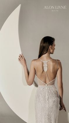 alon livne white spring 2020 bridal sleeveless thin straps fully embellished sheath wedding dress (gia) open back glamorous elegant bv -- Stunning Alon Livné White Spring 2020 Wedding Dresses Popular Wedding Dresses, Bridal Wedding Dresses, White Wedding Dresses, Bridal Style, Meghan Markle, Beyonce, Ethereal Wedding Dress, White Springs, Minimalist Dresses