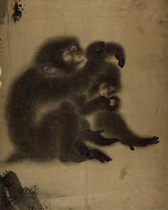 Ink and colours on paper. © The Trustees of the British Museum Japanese Painting, Japanese Art, Asian Monkey, Year Of The Monkey, Indian Folk Art, Woodblock Print, British Museum, Animal Paintings, Asian Art
