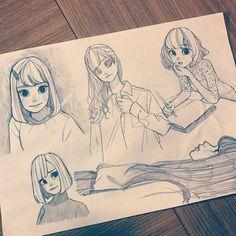 Pin by renjith chundakkad on manga in 2019 Cartoon Drawing Tutorial, Cartoon Girl Drawing, Cartoon Drawings, Drawing Sketches, Art Drawings, Manga Art, Anime Art, Wow Art, Character Drawing