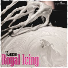 This is my favorite royal icing recipe. It doesn't dry rock hard but is still sturdy enough for stacking and shipping! by @Janine Hardy (sugarkissed.net)