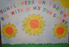 bulletin board for mothers day, have a child say something that is special about their mother