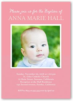 Solid Frame Girl 5x7 Photo Card by Shutterfly   Shutterfly