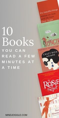 Need a quick break throughout the day. Take a few minutes to read one of the excellent books on this list from Mind Joggle. These books will all give you a quick break from the chaos of the day and are easy to pick up right where you left off, without a lot of effort. #books #booklist Best Historical Fiction, Literary Fiction, Fiction And Nonfiction, Best Books To Read, Good Books, Reading Lists, Book Lists, How To Read Faster, Popular Books