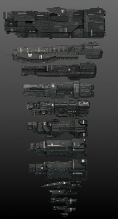 Different kinds of UNSC Frigates found in the Halo series. Spaceship Art, Spaceship Design, Concept Ships, Concept Art, Odst Halo, Halo Ships, John 117, Halo Armor, Halo Spartan