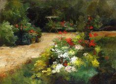 """jardin"", huile sur toile de Gustave Caillebotte (1848-1894, France)"