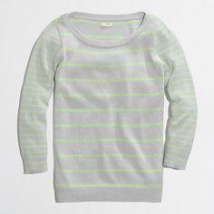 Factory boatneck popover in stripe - crewnecks & boatnecks - FactoryWomen's Sweaters - J.Crew Factory