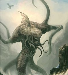 Migas- African myth: a flat, squid-like creature that has tentacles surrounding it's body.  It would lay and wait until a swimmer came close enough to grab and then eat.