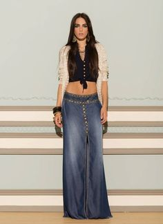 f0cdf44cd3d5 love this long denim skirt! I really feel its time these made a ...