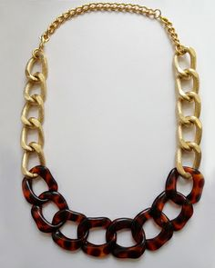 Tortoise and Gold Convertible Necklace/Bracelet-Wrap