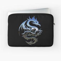 Laptop Case, Laptop Sleeves, Metallic, My Arts, Dragon, Art Prints, Printed, Awesome, Silver