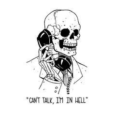 Art Sketches, Art Drawings, Skeleton Art, Skeleton On Phone, Skeleton Drawings, Arte Horror, Grim Reaper, Skull Art, Dark Art