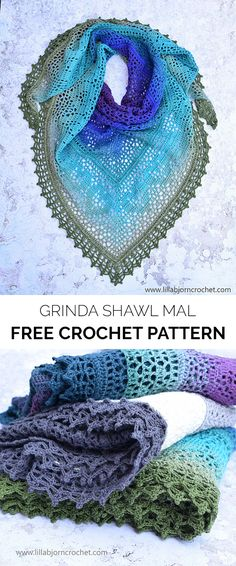 Grinda Shawl MAL Free Crochet Pattern #crochet #crafts #style #ideas #fashion #shawl