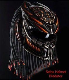 CUSTOM PREDATOR HELMET MOTORCYCLE DOT APPROVED #CELLOSHELMET #PredatorHelmet