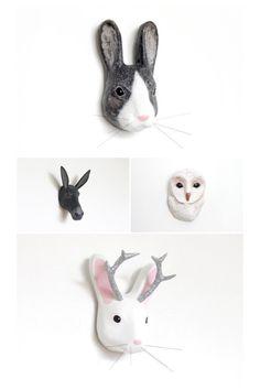 Etsy favourites - papier mache animal heads