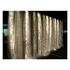 romantic / Tulle + String Lights = amazing!! found on Polyvore
