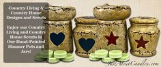 Limited Edition Country Living & Country Home Scents in Our Hand-Painted Simmer Pots and Jars