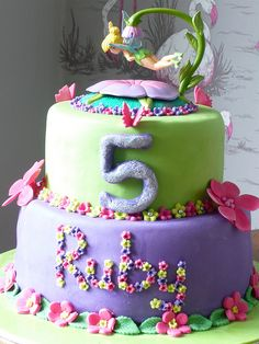 Tinkerbell cake by cakebysugar, via Flickr