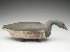 Hollow carved swimming brant, Nathan Cobb, Jr., Cobb Island, Virginia, last quarter 19th century.