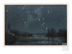 Star-Filled Sky Featuring the Constellation of Orion Giclee Print by W. Kranz at Art.com
