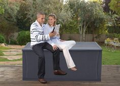 CrownLand Resin 120 Gallon Outdoor Storage Deck Box Container Waterproof Patio Garden Furniture Outdoor Storage Boxes All Weather Using ** (paid link) You can get additional details at the image link. Garden Furniture, Outdoor Furniture Sets, Outdoor Decor, Deck Box, Patio, Storage Containers, Storage Solutions, Container Gardening, Decks