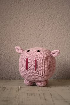 Squarepig crochet pattern, an adorable square pig! Simple Pattern, Cuddle, English, Pictures, Etsy, English English, Photos, Crochet Granny