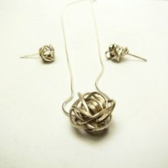 Handmade from silver wire, this set of jewellery is perfect for the messy girl in your life!