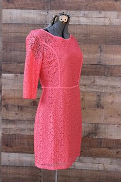 Cooper St (Australian) Coral/Orange/Pink Lace Dress NEW $100+ Retail Size 6 #CooperSt #LaceMini