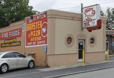 The Elmton - Since 1945 Struthers, Ohio.  We are serious about our pizza and drove 30 minutes out of our way to eat at this place.