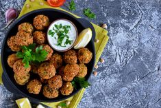 Falafels are a deliciously savoury, protein-packed addition to any meal. If you like easy dinners, you'll love this. It's as easy as one, two, thr--owing everything into a food processor. Falafels, Gluten Free Oats, Gluten Free Recipes, Cauliflower Tabbouleh, Lemon Tahini Dressing, Curry Dishes, Canned Chickpeas, Protein Snacks, How To Cook Quinoa