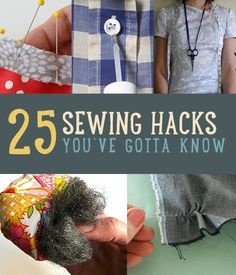 25 Sewing Hacks You Won't Want To Forget http://diyready.com/25-sewing-hack…want-to-forget/