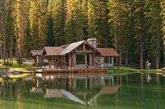 Amazing rustic cabin surrounded by nature designed by Dan Joseph Architects located in Big Sky, Montana.