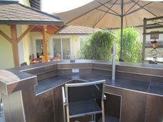 Grill Bar, Pergola, Outdoor Structures, Outdoor Decor, Table, Furniture, Home Decor, Outdoor Bars, Homemade Home Decor