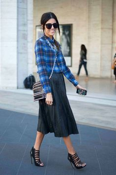Fashion Fade Magazine : Effortlessly Cool Ways To Wear A Plaid Shirt | Street Style Outfits 2015