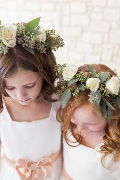 Flower crowns for flower girls.