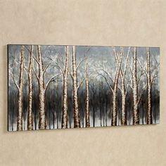 Aspen Grove Canvas Wall Art Multi Earth