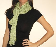 Lime and Coconut Scarf