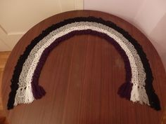 Asexual Pride Flag Crochet Scarf by DigenisFashionShop on Etsy