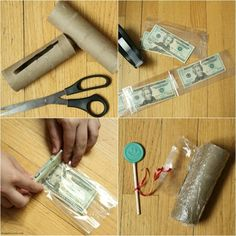 This easy DIY Money Cake is a lot easier to make with a roll of money inside. Easy tutorial on how to make a money cake with a homemade or store-bought cake. Perfect for birthdays, graduation, weddings, and more for a great surprise! Money Birthday Cake, Money Cake, Money Lei, Birthday Gifts, Inside Cake, Creative Money Gifts, Surprise Cake, Lollipop Sticks, Diy Cake