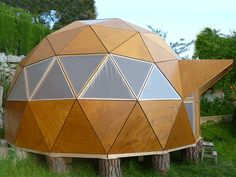 Cycle Shelters, Geodesic Dome Homes, Geometric Construction, Wine Cellar Design, Blanket Fort, Bamboo Crafts, Dome House, Tiny House Cabin, Earth Homes